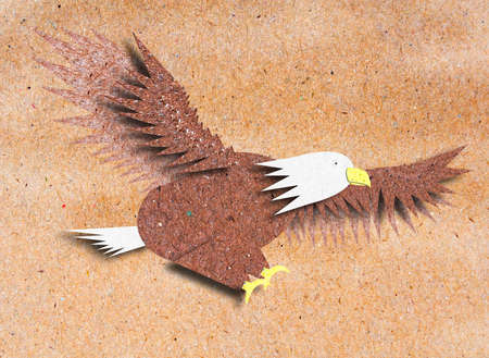 Eagle recycle paper craft for background
