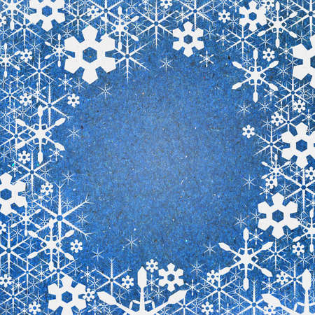 Snow background recycle paper craft for christmas and new year photo