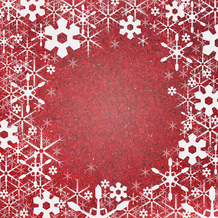 Snow background recycle paper craft for christmas and new year