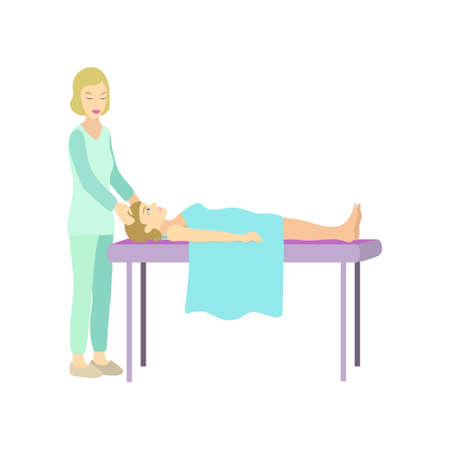 People in the spa s alon on the procedure of therapeutic massage