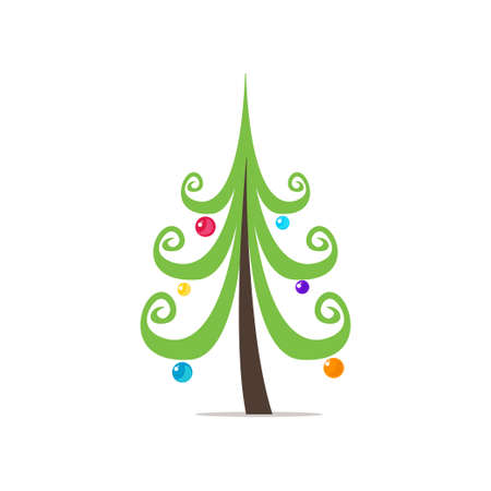 The symbol of the new year, a beautiful, colorful, fucking green Christmas tree decorated with cute Christmas decorations of different shapes and colors.
