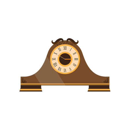 Vintage watches made of wood beautifully concise form. Vector illustration isolated on white background. Illustration