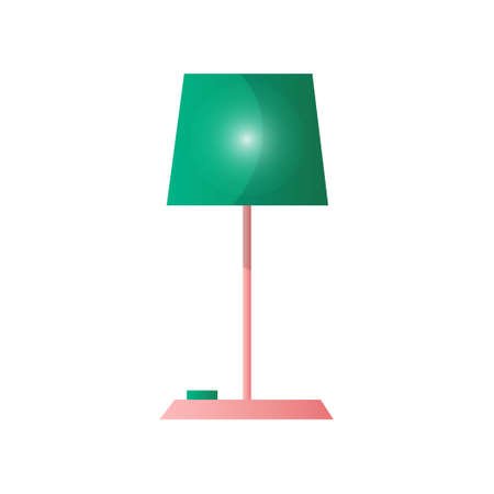 Modern table lamp simple concise form of a pleasant color. Vector illustration isolated on white background.  イラスト・ベクター素材