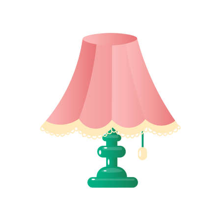 Modern table lamp simple concise form of a pleasant color. Modern table lamp simple concise form of a pleasant color. Vector illustration isolated on white background.
