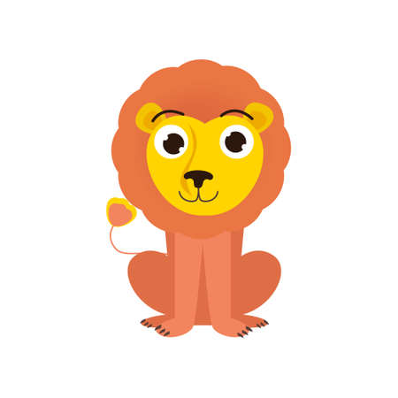 Cute cartoon image of an animal. Funny cute animal. Vector illustration isolated on white background.