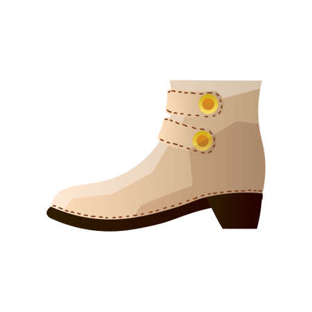 Nowoczesne stylowe buty na co dzień na co dzień. Ilustracja wektorowa na białym tle.