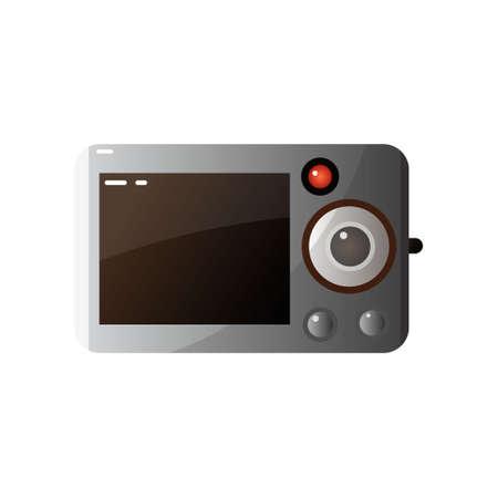 Ilustración de vector de pantalla de cámara de foto digital moderna
