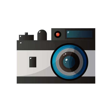 Retro Camera, Polaroid Printing Image Vector Illustration Illustration