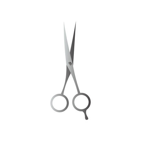 Barber scissors with sharp ends isolated on white background Vectores