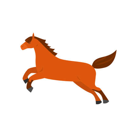 Nettes schönes Cartoonpferd. Anmutiges Pferd einer ungewöhnlichen Färbung. Vektorgrafik