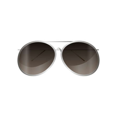 Aviator silver frame sunglasses mirror style for daily use