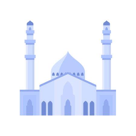 Mosque building light purple color vector illustration.