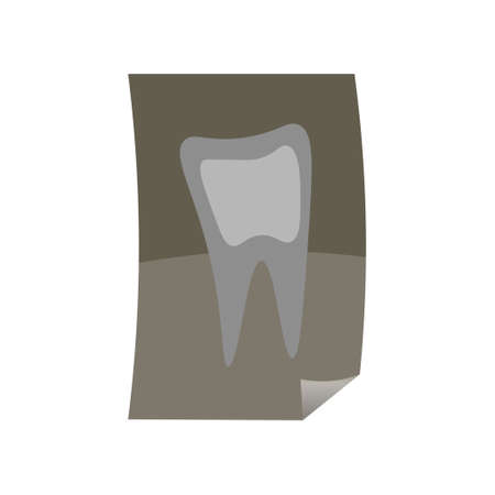Fresh x-ray picture of healthy or ill tooth for medical Ilustração