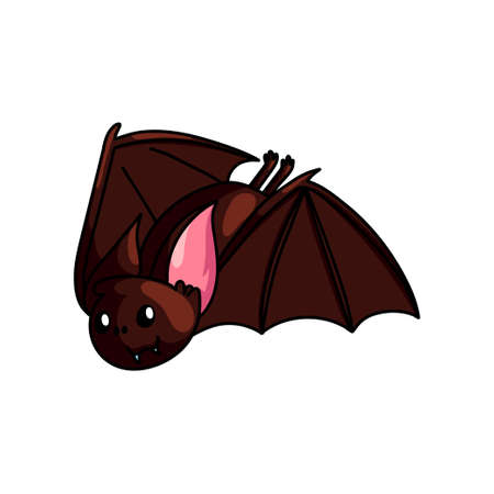 Cute horror flying bat animal from deep cave