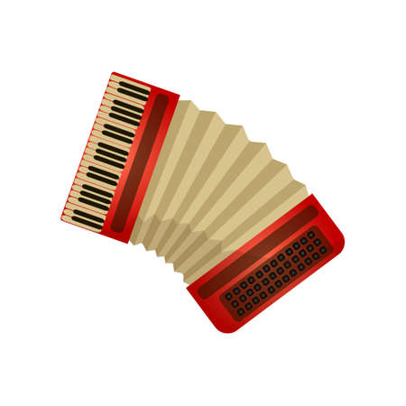 Classic musical instrument accordion or harmony, air device