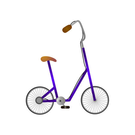 High seat and handle of modern bicycle with small wheels
