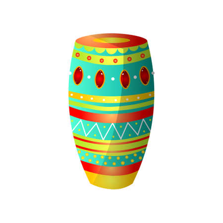 National brazil drums from wood with colorful ornament Ilustracje wektorowe