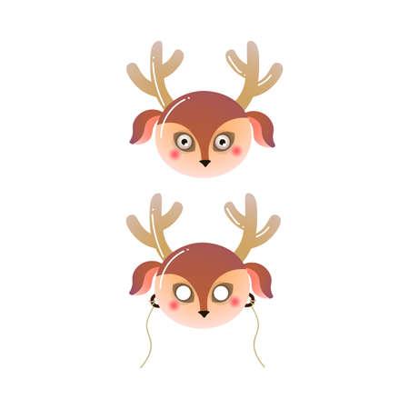 Cute brown color forest deer kid mask