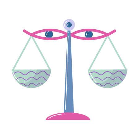 Colorful abstract balance, libra zodiac sign, modern design  イラスト・ベクター素材