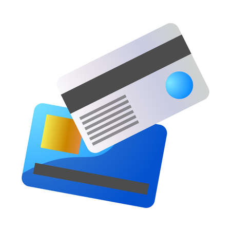 Debit and credit bank cards for money keeping vector illustration Illusztráció