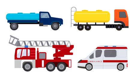 Hand drawn different types of auto vehicles over white background
