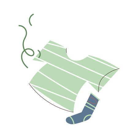 Unpleasant smell going from dirty human clothes vector illustration