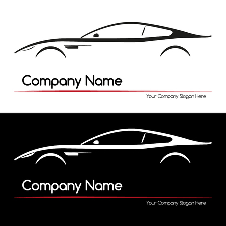 coupe: Modern Executive Sports Silhouette Concept car. Simple element. Vector illustration. Illustration