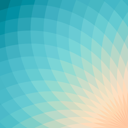 spectral: Background with bright blue and yellow geometric flower. Flow spectral light. Illustration