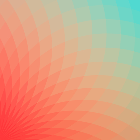 spectral: Background with bright red and blue geometric flower. Flow spectral light.