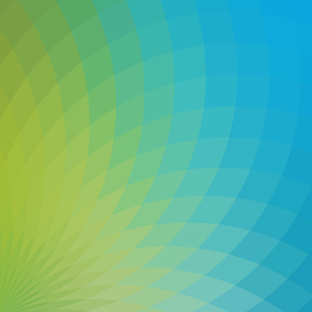 spectral: Background with bright green and blue geometric flower. Flow spectral light.