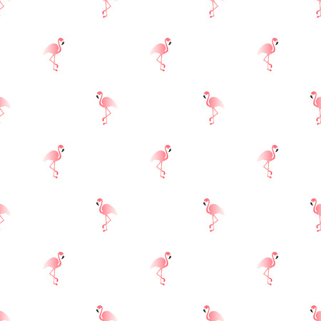 Illustration seamless pattern with pink flamingo. Exotic bird Stok Fotoğraf - 63024501