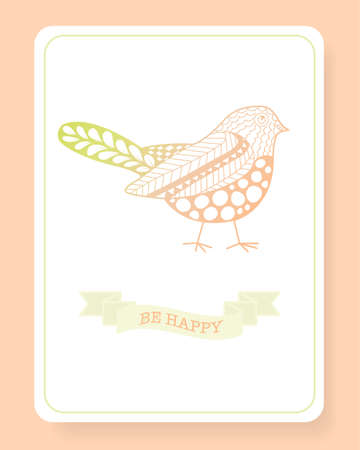 be happy: Cute doodle be happy, objects background. Printable templates.