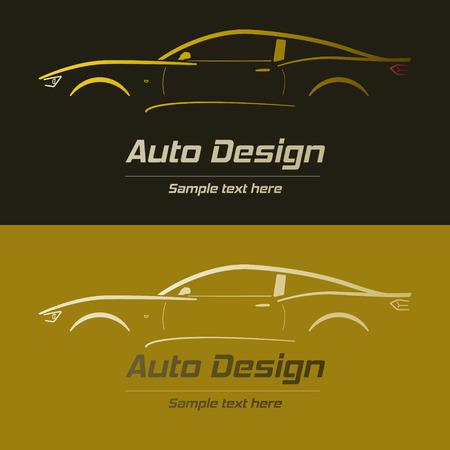 Abstract Car Design Concept Automotive Topics Vector Logo Design