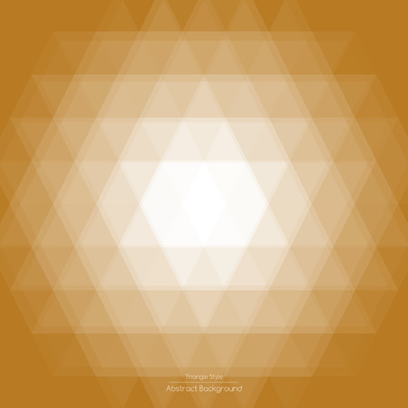 light brown: Abstract light brown triangle background. Geometric ornament. Vector illustration.