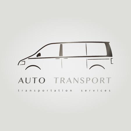 Template of identity for Car Company. Minivan Vektorové ilustrace