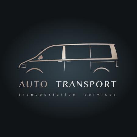 minivan: Modern minivan silhouette. Design microbus design. Vector illustration.