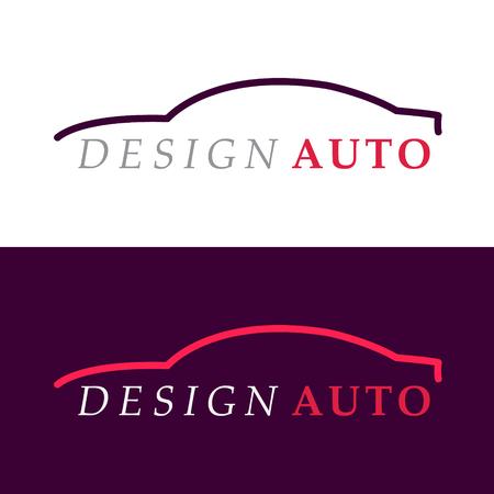 Car silhouet logo. Vector illustratie. Sjabloon voor uw bedrijfslogo. Stockfoto - 66693677