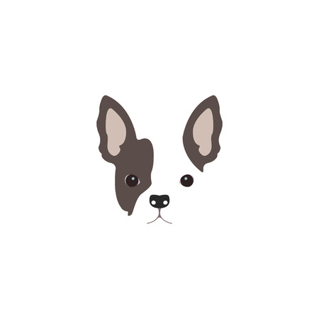 french bulldog: French Bulldog head. Logo dog.