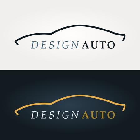 Automotive pictogram. Auto silhouet. Ontwerp van bedrijfslogo. Vector illustratie. Stockfoto - 66694653