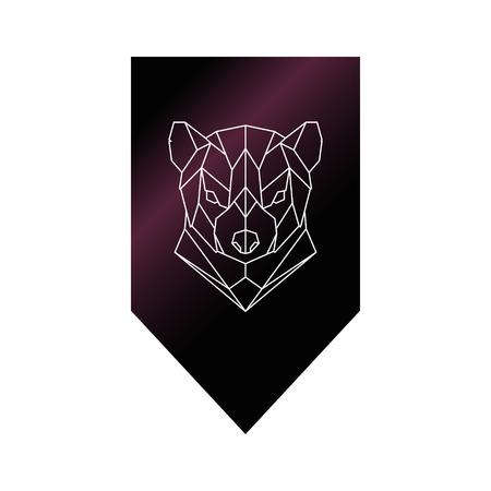 tasmanian: Tasmanian devil polygonal head sign. Vector illustration.
