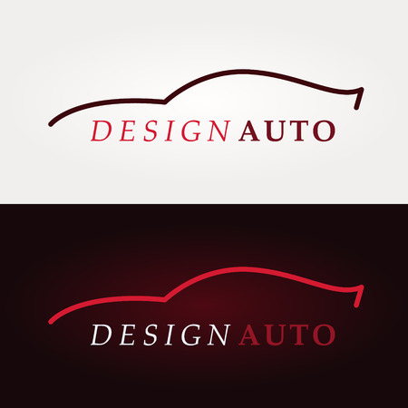 Sportwagen Logo bedrijf. Vectorillustratie Stock Illustratie