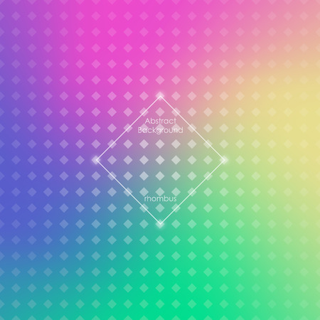 rhombic: Abstract blurred gradient mesh background in bright rainbow colors. Colorful smooth banner template. Easy editable. Rhombic mesh. Vector illustration. Brochure, poster, design.