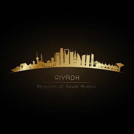 Golden Riyadh Arabie Saoudite City Skyline Vecteurs
