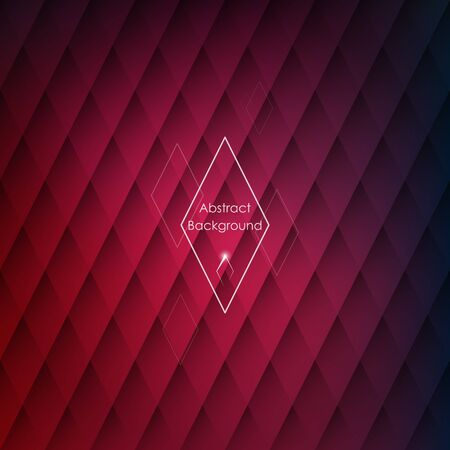 rhombic: Abstract rhombic red background for your designs. Elegant geometric wallpaper.