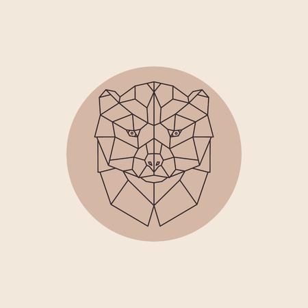 wolverine: Geometric head wolverine. Abstract polygonal design. Vector illustration. Illustration