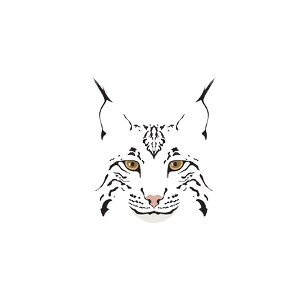 Lynx logotype. Head of lynx isolated vector illustration. Logo