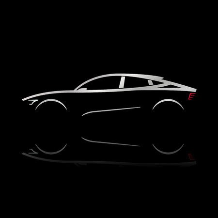 Design Concept Car Outline Car Vector Illustration Royalty Free