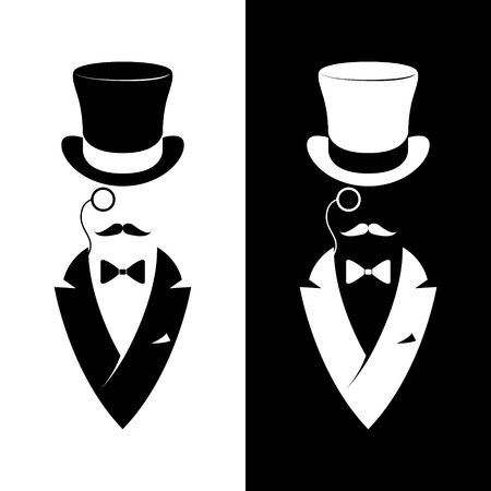 ビンテージ ラベル紳士クラブ。流行に敏感なロゴ。ベクトルの図。