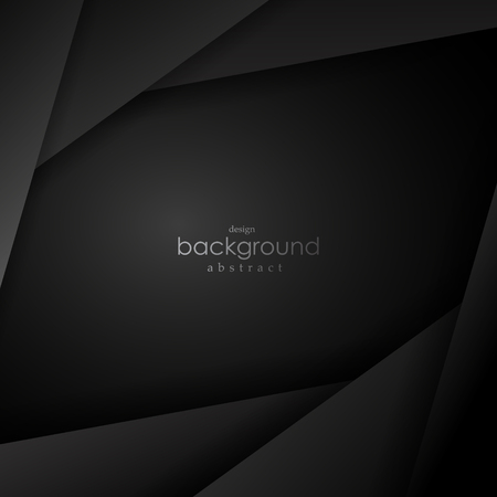 Black and grey vector background square angle with black dark space for text and message modern artwork design. Vector illustration. Illustration