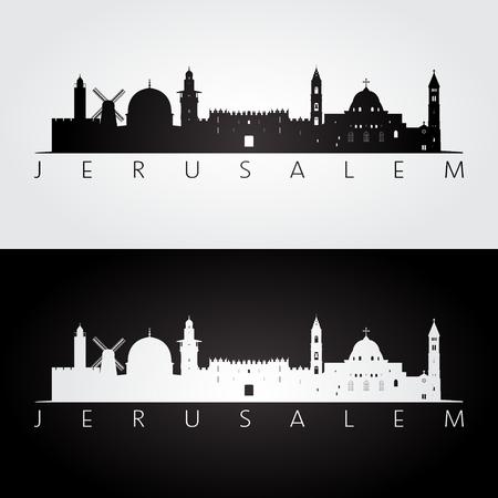 Jerusalem skyline illustration.